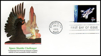 2544 / $3 Challenger Shuttle in Orbit Priority Mail 1995 Fleetwood FDC