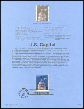 3472 / $3.50 U.S. Capitol Priority Mail 2001 USPS #0109 Souvenir Page