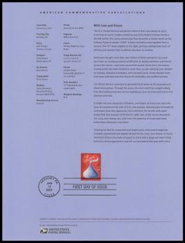 4122 / 39c Love - Candy Kisses 2007 USPS Souvenir Page #0703