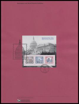 4075 / $1, $2, $5 Washington 2006 Souvenir Sheet of 3 : 2006 USPS #0631 Souvenir Page
