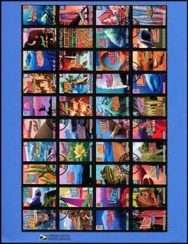 4033 - 4072 / 39c Wonders of America Pane of 40 : 2006 USPS #0628 Souvenir Page