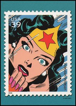 Wonder Woman : DC Comics Super Heroes Stamp Collectible Jumbo Postcard
