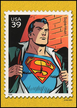 Superman : DC Comics Super Heroes Stamp Collectible Jumbo Postcard