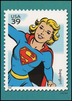 Supergirl  : DC Comics Super Heroes Stamp Collectible Jumbo Postcard