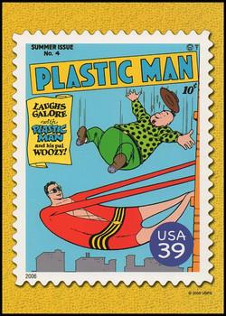 Plastic Man Comic Book Cover : DC Comics Super Heroes Stamp Collectible Jumbo Postcard