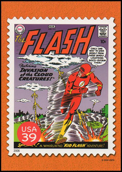 The Flash Comic Book Cover : DC Comics Super Heroes Stamp Collectible Jumbo Postcard