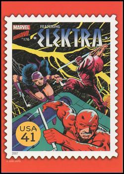 Elektra Comic Book Cover Marvel Comics Super Heroes Stamp Collectible Jumbo Postcard