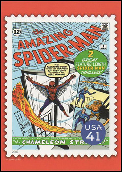 Spider - Man Comic Book Cover Marvel Comics Super Heroes Stamp Collectible Jumbo Postcard