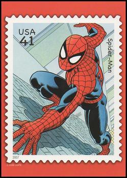 Spider - Man Marvel Comics Super Heroes Stamp Collectible Jumbo Postcard