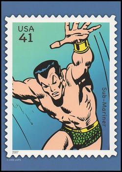 Sub - Mariner Marvel Comics Super Heroes Stamp Collectible Jumbo Postcard