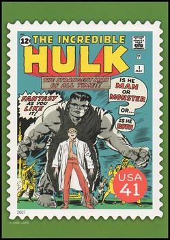 The Incredible Hulk Comic Book Cover Marvel Comics Super Heroes Stamp Collectible Jumbo Postcard