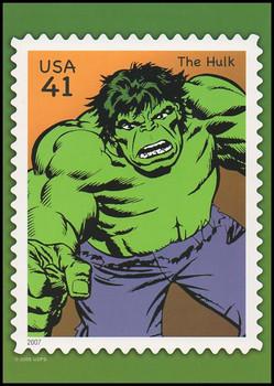 The Incredible Hulk Marvel Comics Super Heroes Stamp Collectible Jumbo Postcard
