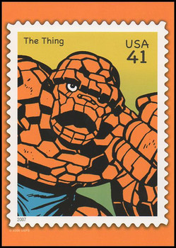 The Thing Marvel Comics Super Heroes Stamp Collectible Jumbo Postcard