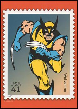 Wolverine Marvel Comics Super Heroes Stamp Collectible Jumbo Postcard