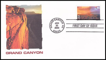 C135 / 60c Grand Canyon Airmail 2000 Fleetwood FDC