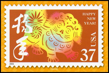Year of the Dog - Chinese Lunar New Year Collectible Postcards