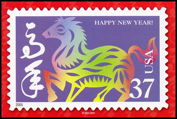 Year of the Horse - Chinese Lunar New Year Collectible Postcard