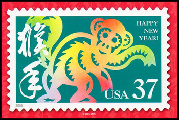 Year of the Monkey - Chinese Lunar New Year Collectible Postcards