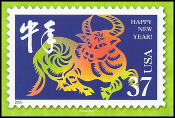 Year of the Ox - Chinese Lunar New Year Collectible Postcards