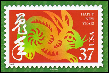 Year of the Rabbit - Chinese Lunar New Year Collectible Postcard