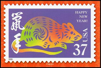 Year of the Rat - Chinese Lunar New Year Collectible Postcard