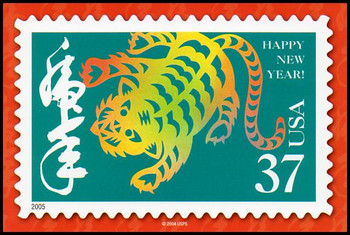 Year of the Tiger - Chinese Lunar New Year Collectible Postcard