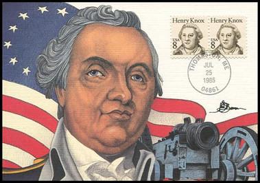 1851 / 8c Henry Knox : Great Americans Series 1985 Fleetwood Maximum Card