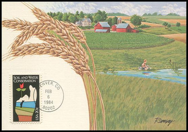 2074 / 20c Soil and Water Conservation 1984 Fleetwood Maximum Card
