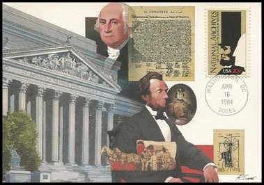 2081 / 20c National Archives 1984 Fleetwood Maximum Card