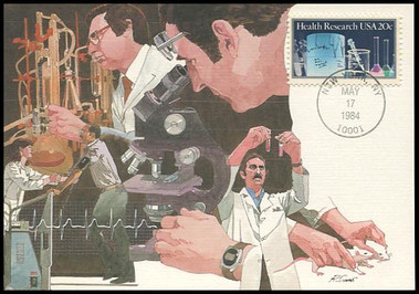 2087 / 20c Health Research 1984 Fleetwood Maximum Card