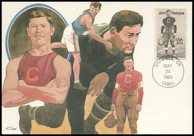 2089 / 20c Jim Thorpe 1984 Fleetwood Maximum Card