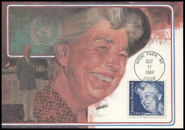 2105 / 20c Eleanor Rooosevelt 1984 Fleetwood Maximum Card