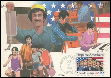 2103 / 20c Hispanic Americans 1984 Fleetwood Maximum Card