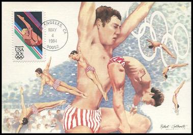 2082 - 2085 / 20c Summer Olympics Set of 4  Fleetwood 1984 Maximum Card