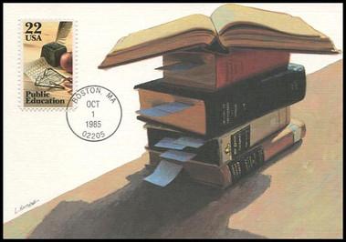 2159 / 22c Public Education 1985 Fleetwood Maximum Card