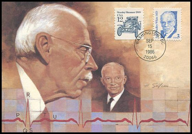 2170 / 3c Dr. Paul Dudley White, M.D. : Great Americans Series 1986 Fleetwood Maximum Card