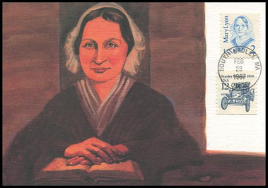 2169 / 2c Mary Lyon : Great Americans Series 1987 Fleetwood Maximum Card