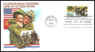 "2981a - j / 1945 : "" Victory At Last "" Set of 10 : World War II / WWII Series 1995 Fleetwood FDCs"