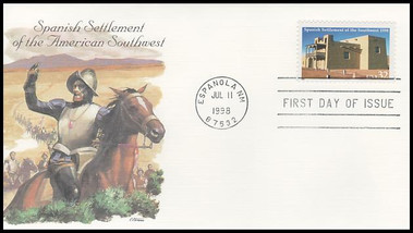 3220 / 32c Spanish Settlement of the Southwest - 400th Anniversary 1998 Fleetwood FDC