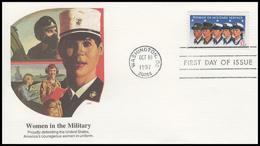 3174 / 32c Women in Military Service 1997 Fleetwood FDC