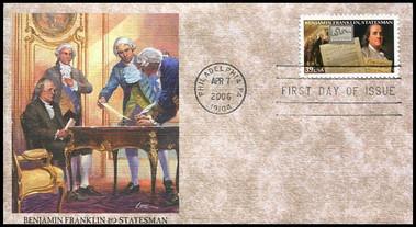 4021 - 4024 / 39c Benjamin Franklin 300th Anniversary Set of 4 Fleetwood 2006 FDCs