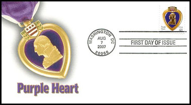 4164 / 41c Purple Heart 2007 Fleetwood FDC