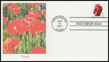 4176 - 4185 / 41c Beautiful Blooms Booklet Singles Set of 10 Fleetwood 2007 FDCs