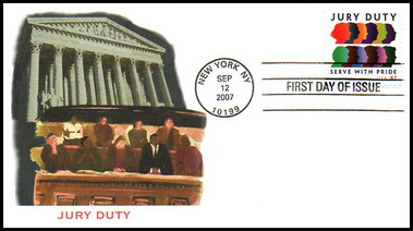 4200 / 41c Jury Duty 2007 Fleetwood FDC