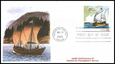 4074a / 39c Champlain's Survey 400th Anniversary Washington, DC Postmark 2006 Fleetwood FDC