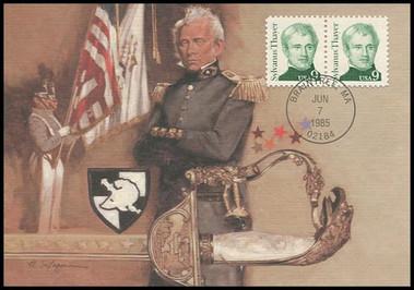1852 / 9c Sylvanus Thayer : Great Americans Series 1985 Fleetwood Maximum Card