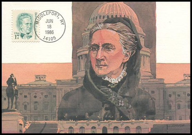2178 / 17c Belva Ann Lockwood : Great Americans Series 1986 Fleetwood Maximum Card