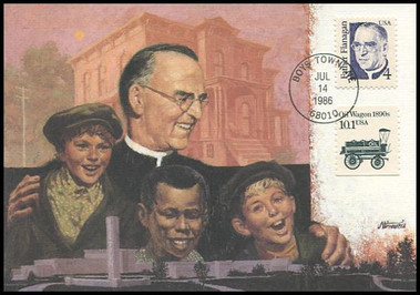 2171 / 4c Father Edward Flanagan : Great Americans Series 1986 Fleetwood Maximum Card