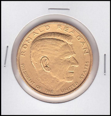 Ronald Reagan U.S. Mint Bronze Presidential Medal Electroplated with 24kt Gold #1
