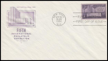 1076 / 3c FIPEX House Of Farnam 1956 First Day Cover
